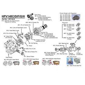 Насос гидравлический для Hitachi EX265-1, EX265-2, EX265-3, EX265-5, EX300-1, EX300-2, EX300-3, EX300-5 EX350-5, EX330-5, EX370-5 ZAXIS 330, ZAXIS 360
