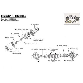 Мотор гидравлический для Hitachi EX100-1, EX100-2, EX120-1, EX120-2, EX200, EX220, EX220-1, EX265-1, EX265-2, EX265-3, EX265-5, EX300-1, EX300-2,