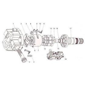 Насос гидравлический для Hitachi EX190, EX200, EX220