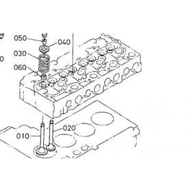 Клапан впускной Kubota Z600