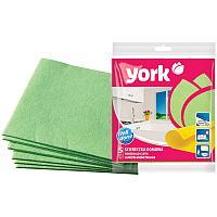 Салфетки для уборки York, набор 5шт., вискоза, 35*35см, европодвес