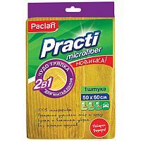 """Тряпка для мытья пола Paclan """"Practi Micro"""" микрофибра, 50*60см, европодвес"""