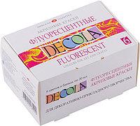 Акриловые краски флуоресцентные 'DECOLA' , 6 цветов по 20 мл