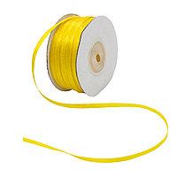 Лента атласная 3мм жёлтый
