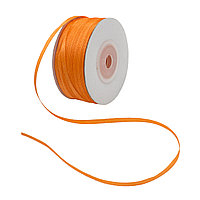Лента атласная 3мм оранжевый