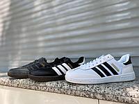 Кеды Adidas Spezial бел черн полоск, фото 1