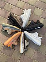 Кроссовки Adidas Yeezy черн красн, фото 1