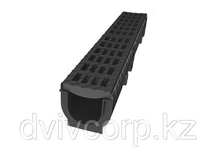Лоток Ecoteck MEDIUM 100.95 h115 с решеткой пластиковой, кл.В125