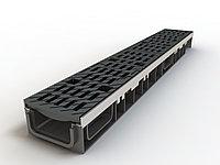 Лоток 100.65 h65 с решеткой чугунной щелевой E 600