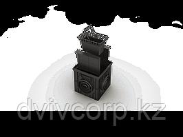 Дождеприемник пластиковый 300х300 в сборе (черный)