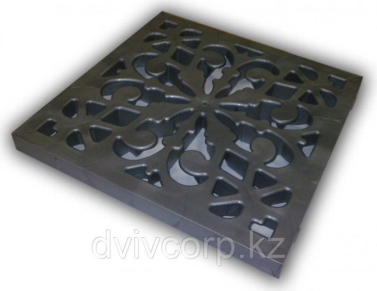 Решётка пластиковая декоративная к дождеприемнику (металлик)