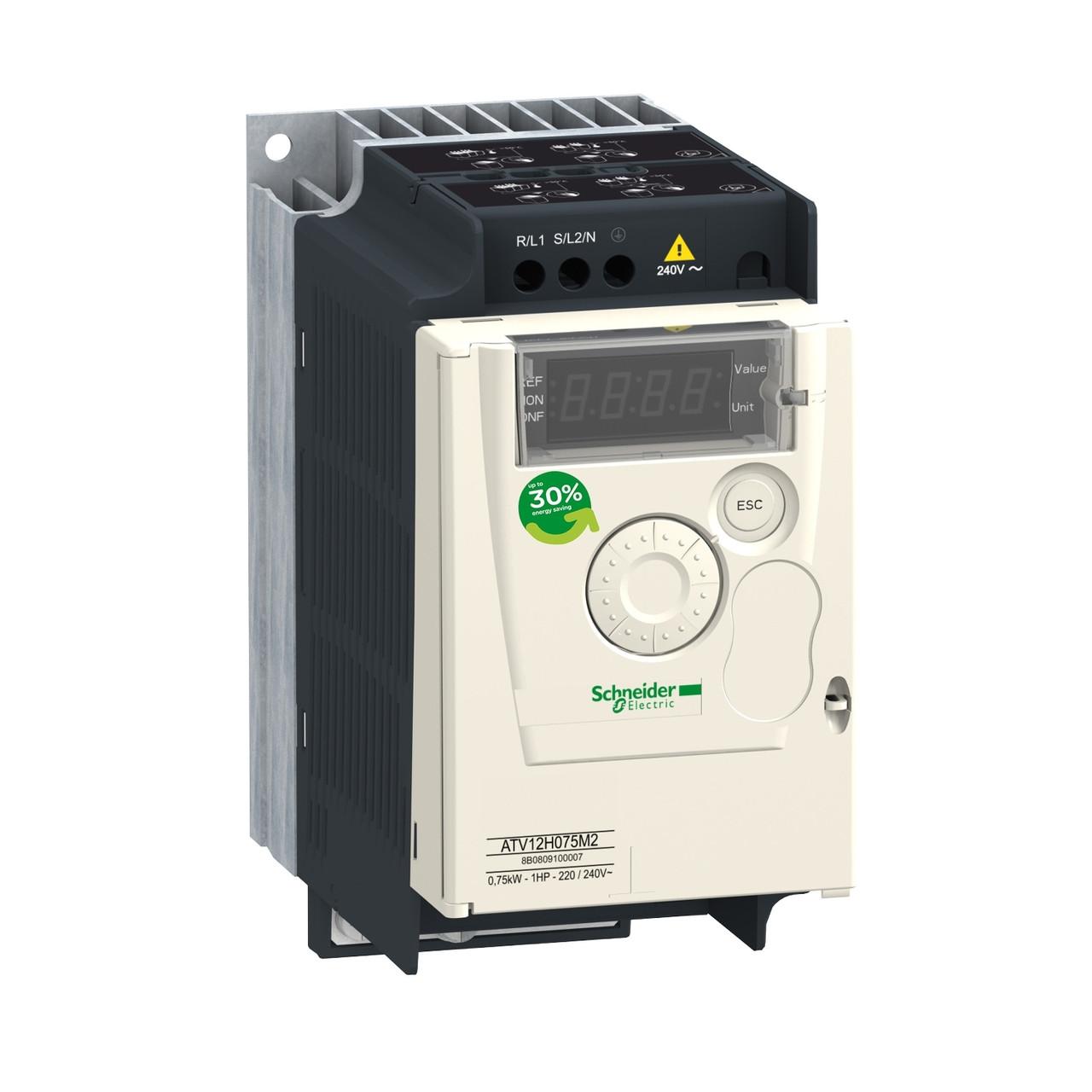 Частотный преобразователь ATV12 0,75квт 240В 1Ф /ATV12H075M2/