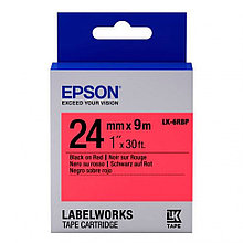 Лента Epson C53S656004 LK-6RBP Пастельная лента 24мм, Красн./Черн., 9м