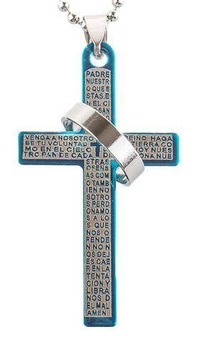 Кулон-подвеска «Крест с кольцом» на шариковой цепочке Перлина