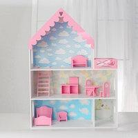 Кукольный дом 'Джем' с обоями и набором мебели