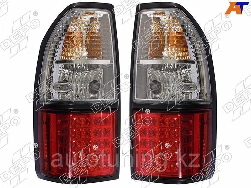 Светодиодные фонари на Land Cruiser Prado 90-95 1996-2002 Красно-белый!