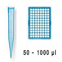 Наконечники в штативе, стерильные, с фильтром, 1000мкл/96шт.