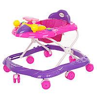 Детские ходунки Bambola Самолет Малиновый/розовый, фото 1