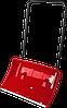 ЗУБР ПОЛЮС движок снеговой (скрепер), пластиковый ковш с алюминиевой планкой, с колесиками, 860 мм