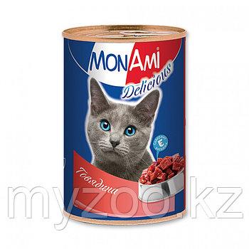 MonAmi - Консервы для кошек (говядина) 350 гр