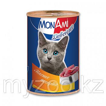 MonAmi - Консервы для кошек (мясное ассорти) 350 гр