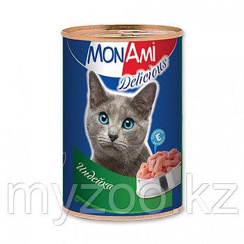 MonAmi - Консервы для кошек (индейка) 350 гр