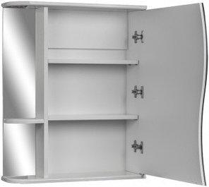Шкаф-зеркало Волна 1-50 левый  АЙСБЕРГ, фото 2