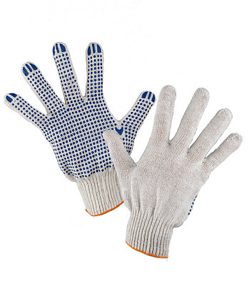 Перчатки хлопчато-бумажные с пвх рабочие в Алматы, фото 2