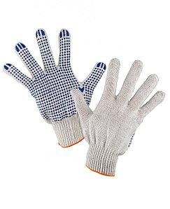 Перчатки хлопчато-бумажные с пвх рабочие в Алматы
