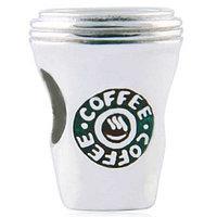 """Серебряный шарм """"COFFEE"""". Вес: 2,4 гр, покрытие родий"""