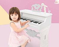 Детские Пианино со стульчиком и микрофоном 328 белый