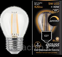 105802105 Gauss лампа LED Filament GLOBE E27 5W 2700K