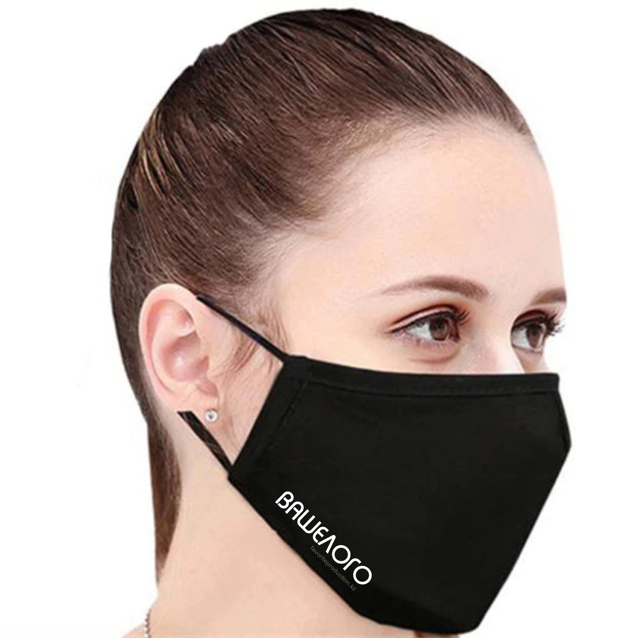 Маски оптом. Многоразовая маска, женская, с логотипом