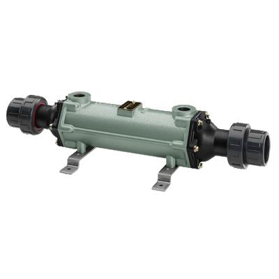 """Теплообменник трубчатый 40 кВт (при t=82°С), титан, вых.: вых.: 50мм/ 3/4"""" внутр. р."""