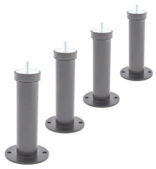 Ножки чёрного цвета с подставками для теплового насоса Rapid (4 штуки)