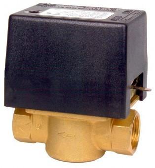 """Двухходовой электрический клапан. Подключение 3/4 """"в 230 В"""