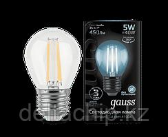 105802205    Gauss лампа LED Filament GLOBE E27 5W 4100K