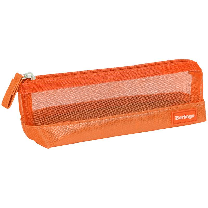 "Пенал-косметичка 210*70*55 Berlingo ""Style"", оранжевый полиэстер"