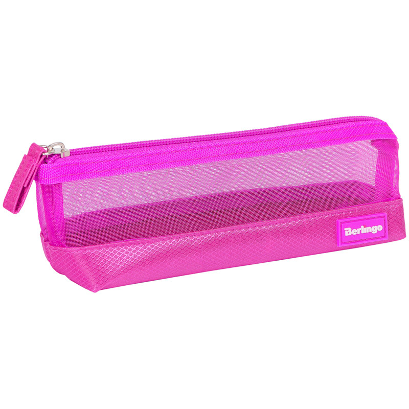 """Пенал-косметичка 210*70*55 Berlingo """"Style"""", розовый полиэстер"""