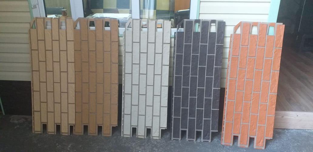 Фасадные панели 420x1000 мм VOX Vilo Brick Ginger (Кирпич) Имбирь