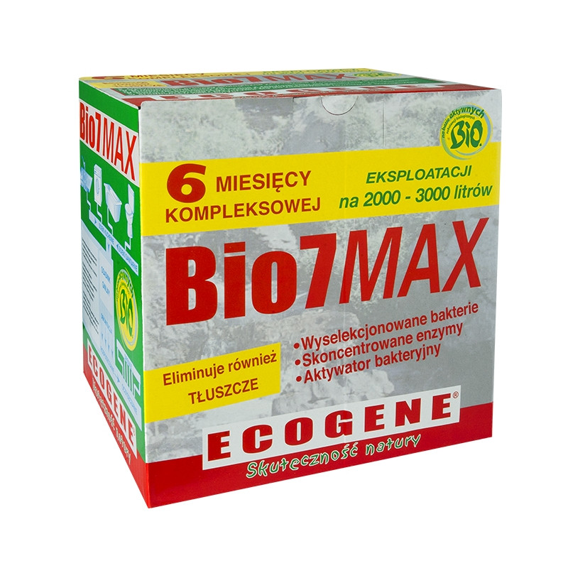 Уход за септиками, бактерии БИО 7,  Bio7 Max , на 6 месяцев