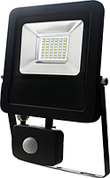 Светодиодный  прожектор с датчиком движения  10W  6500K IP 65