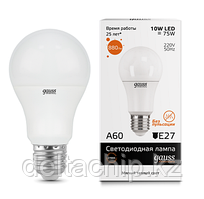 23210 Gauss лампа Elementary A60 10W E27 2700K