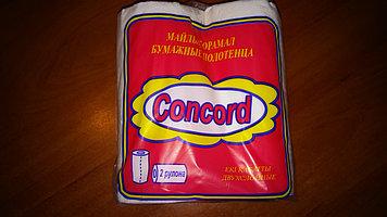 Полотенца бумажные рулонные «Concord» 2 рулона