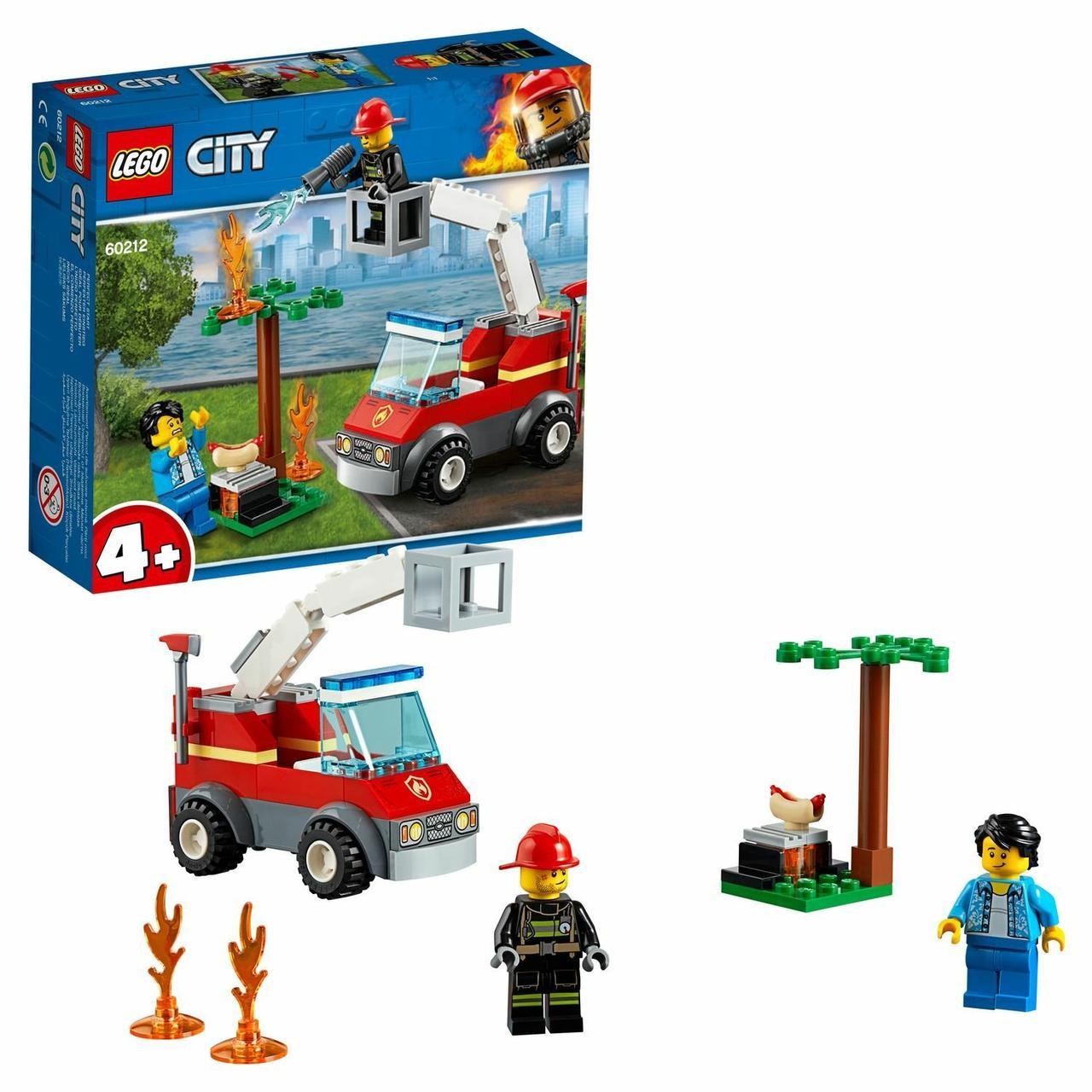 Конструктор LEGO City Fire Пожар на пикнике 60212