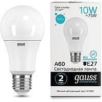 23220    Gauss лампа Elementary A60 10W E27 4100K