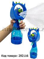 Ручной детский вентилятор с распылителем 2в1  Angry Birds, синий