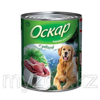 Оскар влажный корм для собак с уткой 750 гр