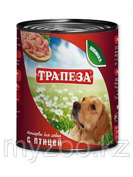 ТРАПЕЗА влажный корм для собак с птицей 750 гр