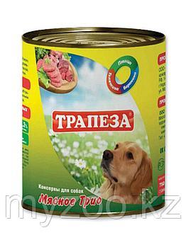 ТРАПЕЗА влажный корм для собак мясное трио 750 гр